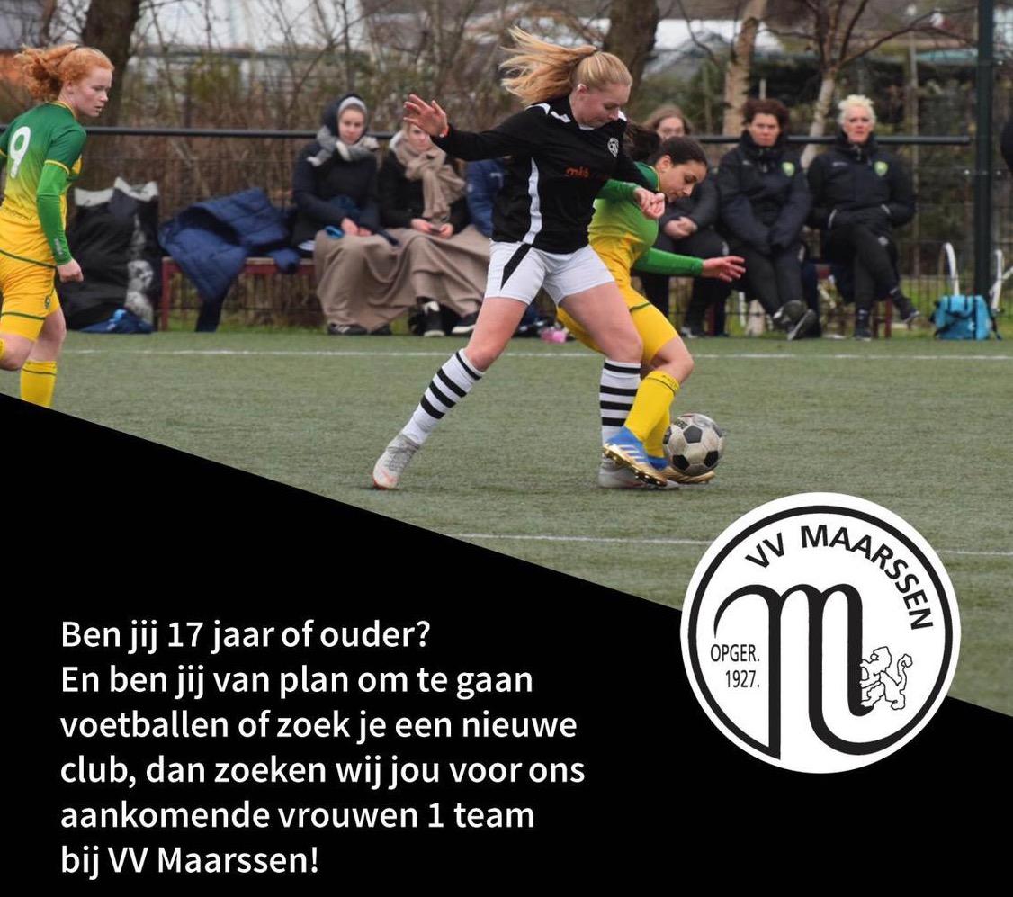 Vrouwen voetballen bij VV Maarssen op zaterdag